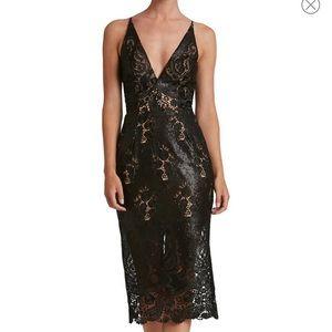 Nordstrom Dress the Population black dress.